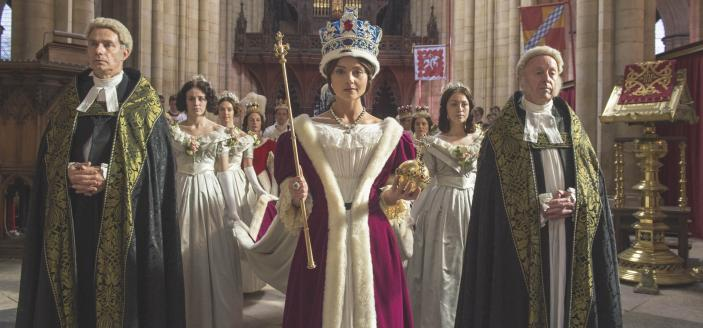 "Jenna Coleman as the young queen in ""Victoria"" (Photo: Courtesy of ITV Plc)"