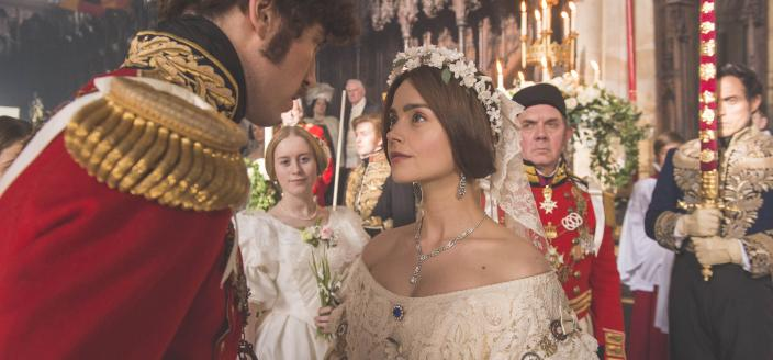 Victoria and Albert's wedding is lovely. (Photo: Courtesy of ITV Plc)
