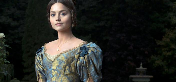 "Jenna Coleman as the young Queen Victoria in ""Victoria"" (Photo: Courtesy of Des Willie/ITV )"