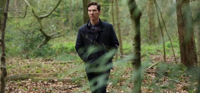 "Benedict Cumberbatch roams in the woods in ""The Child in Time"" (Photo:  Courtesy of Pinewood Television, SunnyMarch TV and MASTERPIECE for BBC One and MASTERPIECE)"