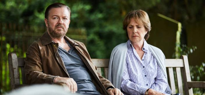 """Ricky Gervais and Penelope Wilton in """"After Life"""" (Photo: Netflix)"""