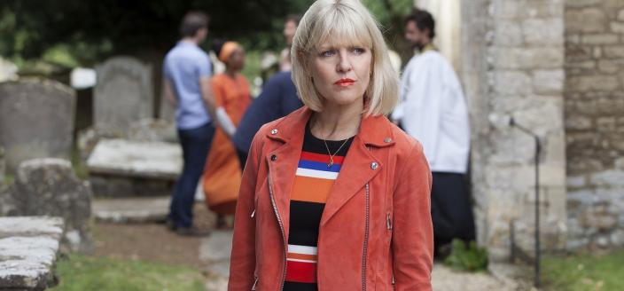 "Ashley Jenkins in ""Agatha Raisin and the Curious Curate"" (Photo: Acorn TV)"