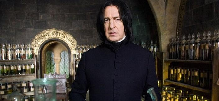 "Alan Rickman in his most famous recent role: ""Harry Potter's"" Potions Master, Severus Snape. (Photo: Warner Bros.)"