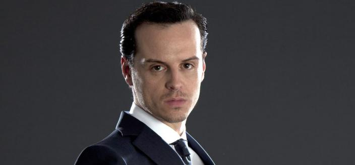 "Andrew Scott as James Moriarty in ""Sherlock"" (Photo: (Photo: Courtesy of Hartswood Films and MASTERPIECE)"