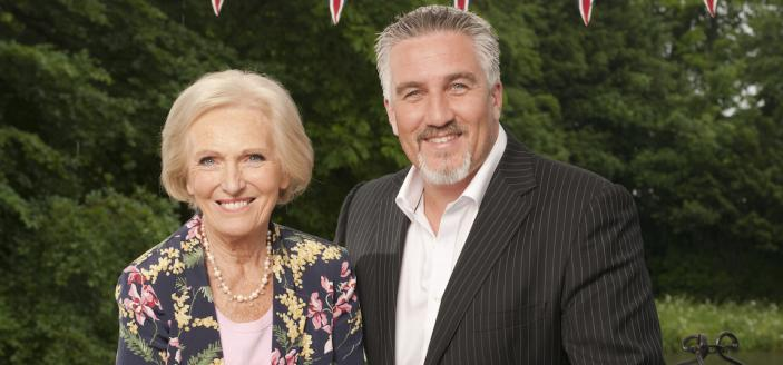 The queen and king of baking, Mary Berry and Paul Hollywood (Photo Credit: Courtesy of © Love Productions, worldwide, all media in perpetuity)