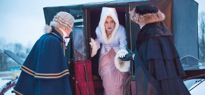"Lily James (and her amazing outfits) star in the BBC's new ""War and Peace"". (Photo: BBC)"