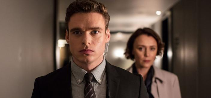 "Richard Madden and Keeley Hawes in ""Bodyguard"" (Photo: BBC)"