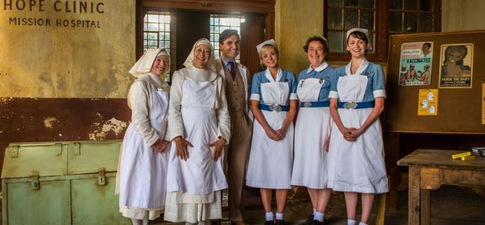 "The cast of the new ""Call the Midwife"" holiday special.  (Photo: BBC/Neal Street Productions)"