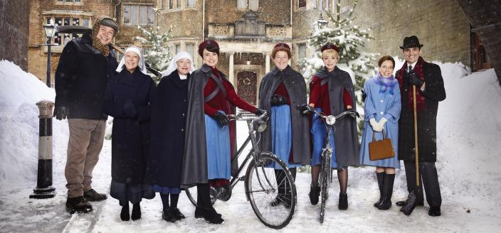 """Lots of snow for this year's """"Call the Midwife"""" holiday special! (Photo:  Courtesy of Neal Street Productions 2017)"""