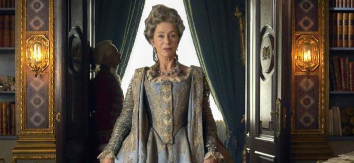 Helen Mirren in all her regal glory (Credit: Hal Shinnie/HBO)