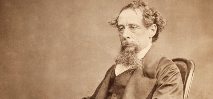Albumen photograph of Charles Dickens, circa 1860s. (Photo: Wikimedia Commons/U.S. Public Domain)