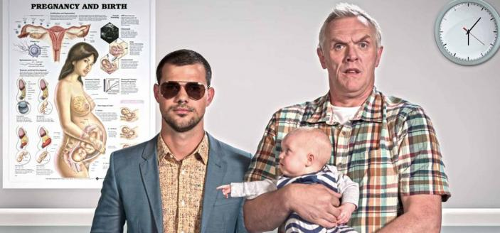 Cuckoo' Taylor Launter and Greg Davies   (Photo: Roughcut Television and BBC)