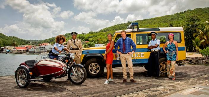 """The latest cast of """"Death in Paradise"""" (Photo: BBC)"""