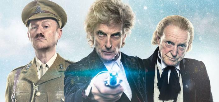 "Peter Capaldi, Mark Gatiss and David Bradley in ""Twice Upon a Time"" (Photo: BBC America)"