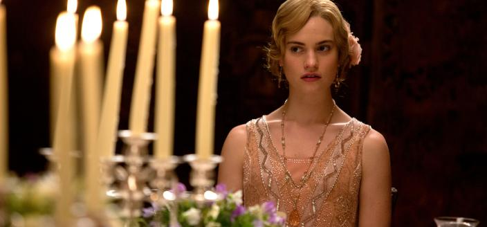 "Lily James in ""Downton Abbey"" Season 5 (Photo: (C) Nick Briggs/Carnival Film & Television Limited 2014 for MASTERPIECE)"