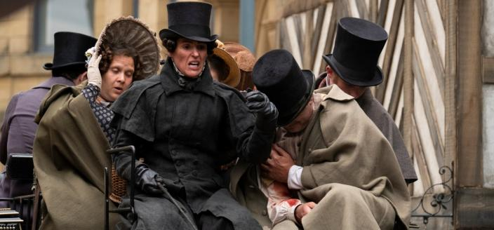 Gentleman Jack (Suranne Jones) arrives in town. Photo: HBO