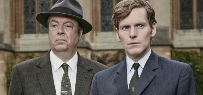 "Shaun Evans and Roger Allam in ""Endeavour' (Photo: Courtesy of (C) Mammoth Screen/MASTERPIECE/ITV Studios)"