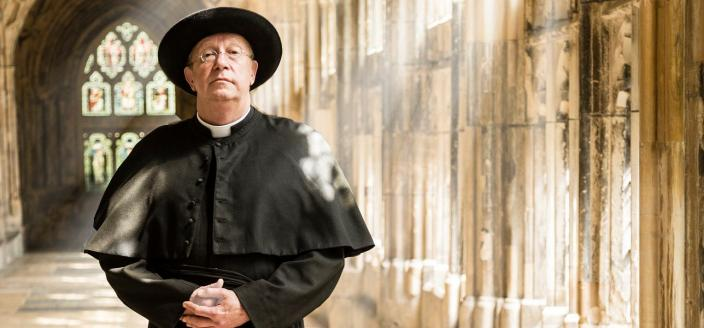 Mark Williams as Father Brown (Photo: BBC)