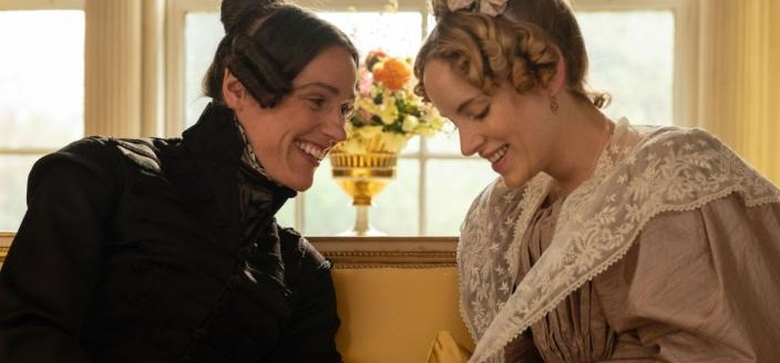 Anne Lister (Suranne Jones) and Ann Walker (Sophie Rundle) in a scene from Gentleman Jack. (Photograph: Matt Squire/Lookout Point)