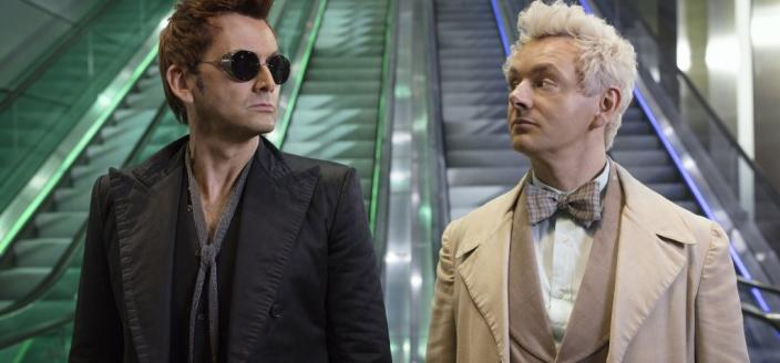 "David Tennant and Michael Sheen in""Good Omens"" (Photo: Amazon Studios)"