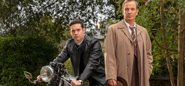 """Tom Brittney and Robson Green in """"Grantchester"""" (Photo: Courtesy of Colin Hutton/Kudos, an Endemol Shine Company, MASTERPIECE and ITV)"""
