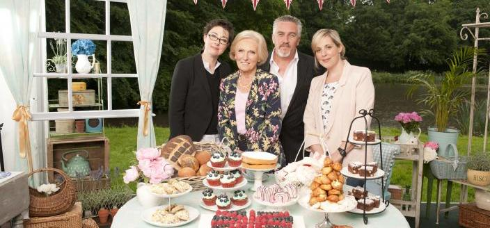 Sue, Mary, Paul and Mel return to PBS in a throwback season of The Great British Baking Show  Credit: Courtesy of © Love Productions, worldwide, all media in perpetuity
