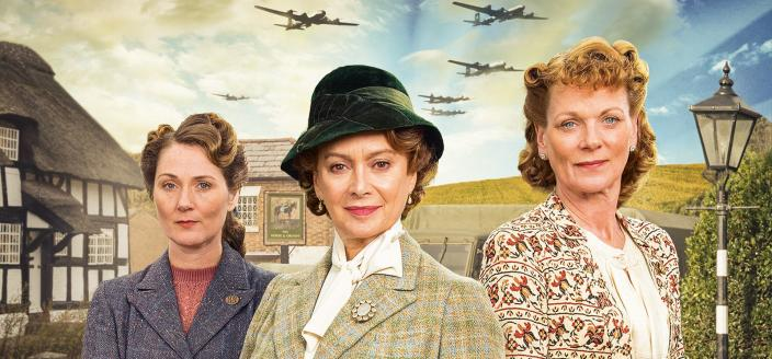 """The ladies of """"Home Fires"""". (Photo: ITV for Masterpiece)"""