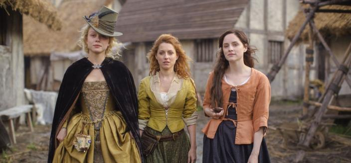 "Naomi Battrick, Sophie Rundle and Niamh Walsh in ""Jamestown"" (Photo: Carnival Films Ltd 2017)"