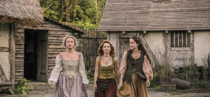 "The three leading ladies of ""Jamestown"" (Photo: Carnival Films Ltd 2017)"