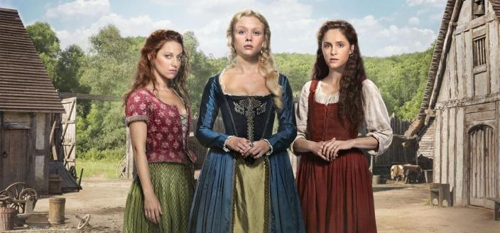 "Sophie Rundle, Niamh Walsh and Naomi Battrick in ""Jamestown"" Season 2. (Photo: © Carnival Film & Television Ltd. 2018)"