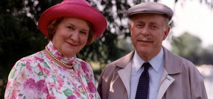 "Stars Clive Swift and Patricia Rutledge in ""Keeping Up Appearances"" (Photo: BBC)"