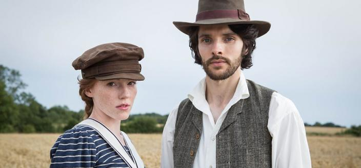 "Colin Morgan and Charlotte Spencer in ""The Living and the Dead"". (Photo: BBC)"