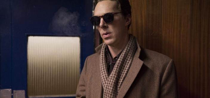 "Benedict Cumberbatch rocking a very distinct look in ""Patrick Melrose"" (Photo: Sky/Showtime)"