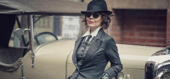 "Helen McCrory in the greatest ""Peaky Blinders"" look ever (Photo: Netflix/Caryn Mandabach Productions)"