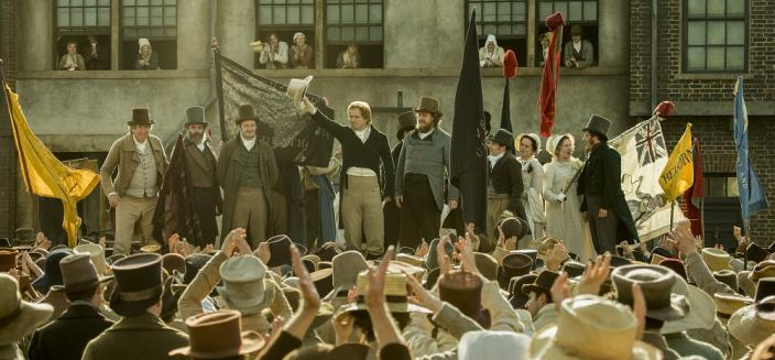 "The cast of the ""Peterloo"" film (SIMON MEIN/COURTESY OF CORNERSTONE FILMS)"
