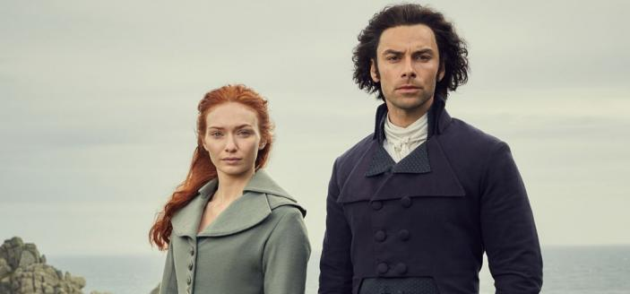 "Aidan Turner and Eleanor Tomlinson in the promo art for ""Poldark"" Season 4. (Photo: BBC/Mammoth Screen)"