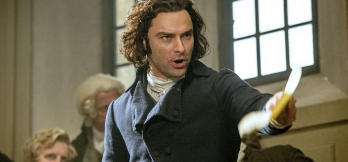 Aidan Turner getting his MP on. (Photo: Courtesy of Mammoth Screen for BBC and MASTERPIECE)