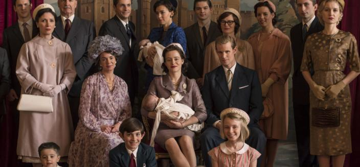 "The Royal Family in ""The Crown"" Season 2. (Photo Credit: Netflix)"