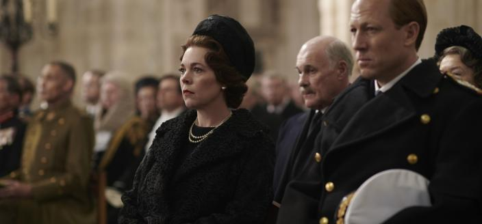 "Olivia Colman and Tobias Menzies in ""The Crown"" Season 3 (Photo: Courtesy of Netflix)"