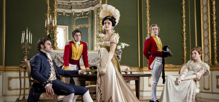 "Olivia Cooke and the cast of ""Vanity Fair"" (Photo: ITV/"