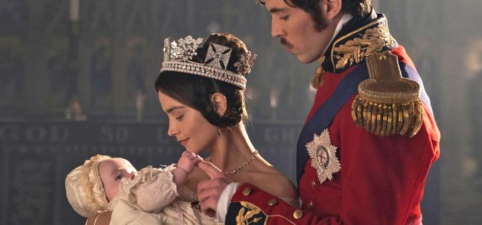 """A photo of Victoria, Albert and their daughter from """"Victoria"""" Season 2. (Photo: Courtesy of GARETH GATTRELL/ITV Plc for MASTERPIECE)"""