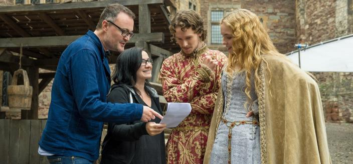 "Jody Comer, Jacob Collins-Levy and ""White Princess"" Producer Emma Frost (Photo: Starz)"