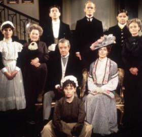 The 1971 cast of Upstairs Downstairs. (Photo credit: London Weekend Television)