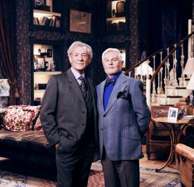 "Ian McKellen and Derek Jacobi in ""Vicious"". (Photo: PBS)"