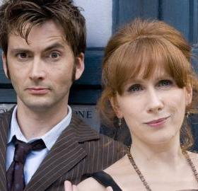 "David Tennant and Catherine Tate in ""Doctor Who"" Season 4. (Photo: BBC)"