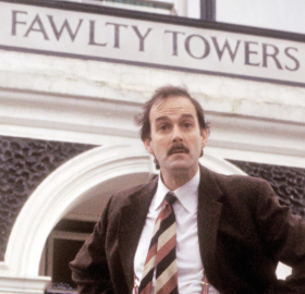 "John Cleese on ""Fawlty Towers"". (Photo: BBC)"