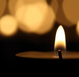 In Memoriam candle