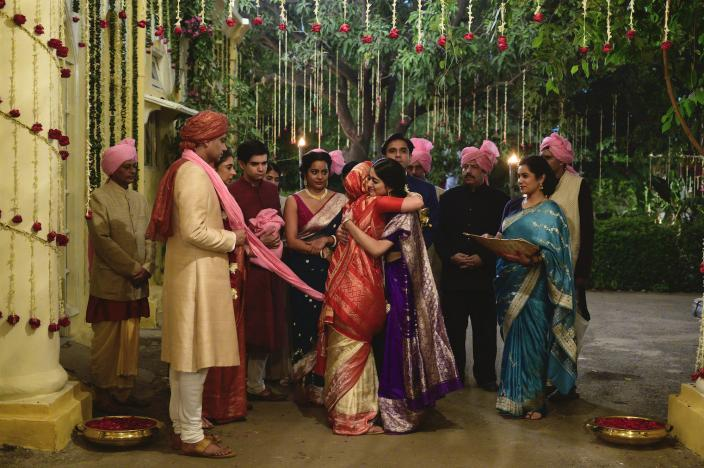 One daughter married off, one to go. The opulent wedding scene that opens A Suitable Boy. Credit: BBC/Lookout Point