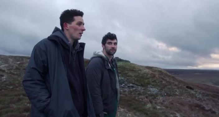 Josh O'Connor (Johnny) and Alec Secareanu (Gheorghe) in God's Own Country. Photograph: Agatha A. Nitecka/Picturehouse Entertainment