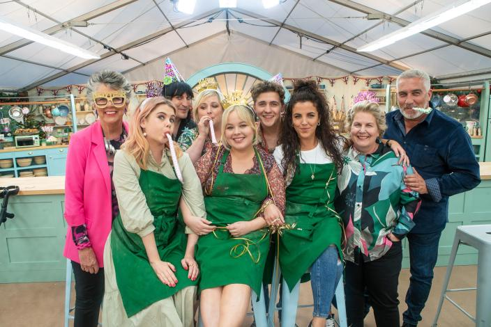 The Derry Girls and the Baking Show judges (Photo: Netflix)